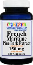French Maritime Pine Bark Extract 150 mg 180 Capsules (Same as Pycnogenol)