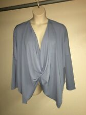 JOH Blouse Womens Small Drape Cross Front Plunge NWT
