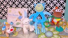 Baby Toy Lot Peter Rabbit Gund Fisher Price Plush Book Rattle Monkey Lamb