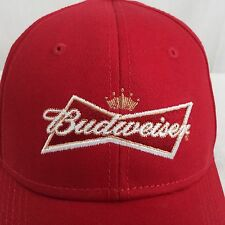 New Vintage Budweiser Beer Trucker Hat Snapback Cap Embroidered Script Red