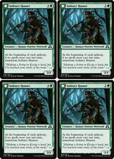 4x SOLITARY HUNTER Shadows over Innistrad MTG Green Creature—Human Werewolf Com