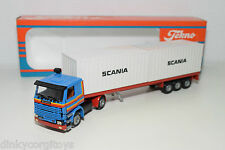 TEKNO SCANIA 142H 142 H TRUCK WITH CONTAINER TRAILER WERBE PROMO MINT BOXED