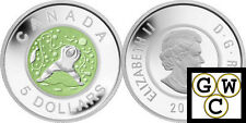 2013 'Father Ice Fishing' Proof $5 Silver Coin (with Niobium insert) (13275)