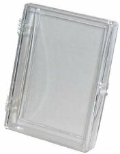 Lot of (10) ~ 35ct Card Hinged Clear Plastic Boxes Holders For Trading Cards