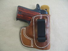 Sig Sauer P238 IWB Molded Leather Inside Waistband Conceal Carry Holster TAN RH
