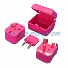 Pink Universal Travel Plug Power Outlet Socket Adapter Converter US UK EU AU