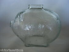 Collectible ANCHOR HOCKING Glass Pig / Piggy Bank - GREAT GIFT