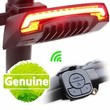Bicycle Bike Rear Remote Wireless Light Turn Signal LED Laser Beam USB Charging