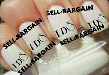 I DO WEDDING ENGAGEMENT RING》Tattoo Nail Art Decals《NON-TOXIC