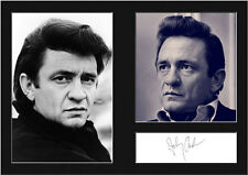 JOHNNY CASH #1 Signed Photo Print A4 Mounted Photo Print - FREE DELIVERY