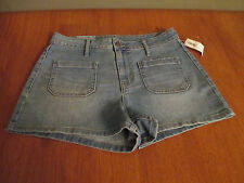 New Womens Size 8 Old Navy Retro Blue Jean Denim Shorts Stretch