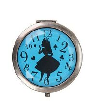 Disney Alice In Wonderland Silhouette Clock Gem Cut Compact Mirror New With Tags