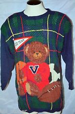 Vintage Teddy Bear Sweater XL Cute PBJ Sport Varsity Basketball