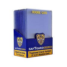 125 Saf-T-Gard 3x4 GOLD ROOKIE Imprint Top Loader Card Holder #3040RG