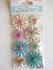 DOVECRAFT FORGET ME NOT ACCORDIAN STICKERS - flowers garden theme
