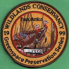 "Pa Fish Game Commission Related NEW 1999 Wildlands Conservancy 4"" Turkey Patch"