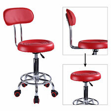 Red Salon Chair Hairdressing SPA Beauty Massage Tattoo Removable backrest Stool