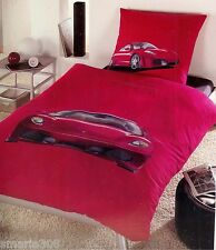 Ferrari Red Sport Car Duvet | Doona Quilt Cover Set | Single