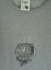 Vintage Polo RRL Ralph Lauren T shirt grey  stopwatch tech xl fits like a large