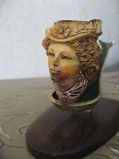 Antique Meerschaum Pipe / Pipe en écume de mer Victorienne + support