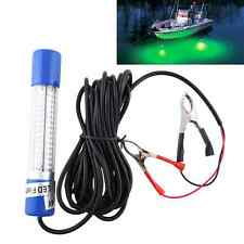 12V Green Night LED Underwater Boat Fishing Fish Lure Light Clip-on 900lm NEW