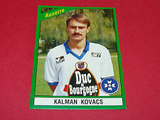 17 KALMAN KOVACS AJ AUXERRE AJA ABBE-DESCHAMPS PANINI FOOT 91 FOOTBALL 1990-1991