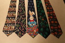 NWT Mens Neckties 5 Holiday Halloween Thanksgiving Christmas Easter St Patty #2