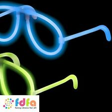 SNAP TO GLOW ONE PIECE GLASSES ass colours kids light up toys gifts adults