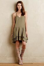 NWT SZ M ANTHROPOLOGIE $268 TIERED TELERI DRESS HUNTER BELL ADORABLE VERSATILE!