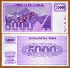 SPECIMEN, Slovenia, 5000 (Tolarjev), 1992, P-10s1, UNC