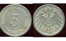 ALLEMAGNE 5 pfennig  1900 A  ( bis )