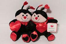 Lotsa Love 1-800-Flowers Set of 2 Ladybug Plush Toy Dolls NEW