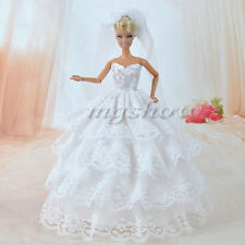 Princess Evening Wedding Party Clothes Wears Dress Outfit Set For Barbie Doll