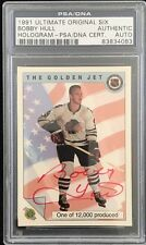 1991 ULTIMATE BOBBY HULL SIGNED ORIGINAL SIX AUTO PSA/DNA RED!!!