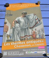 Affiche Chassenon site antique de Cassinomagus, saison 2013, 60 x 40 cm, couleur