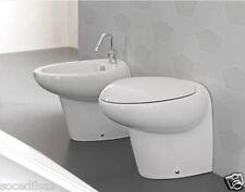 SANITARI HIDRA IN CERAMICA SERIE TAO WC + BIDET + COPRIWC COLORE BIANCO
