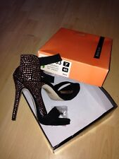 River Island Diamanté Embellished Palms Deadly Heels Size UK 7 EU 40