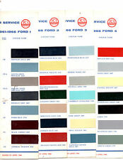 1958 1959 1960 1961 1962 1963 1964 TO 1970 ENGLISH FORD ORIGINAL PAINT CHIPS ICI