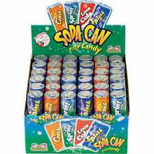 72 Count Kidsmania Soda Can Fizzy Candy 4 Flavors