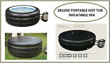 "Deluxe Inflatable Portable Hot Tub Black 25"" Deep Model 4 Person Spa JL017331NG"