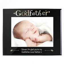 PERSONALISED Godfather Gift Photo Picture Frame Engraved Christening / Babtism