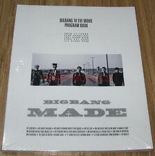 Bigbang BIGBANG10 THE MOVIE 'BIGBANG MADE' OFFICIAL GOODS PROGRAM BOOK SEALED