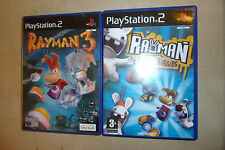2 PLAYSTATION 2 PS2 GAME BUNDLE RAYMAN RAVING RABBIDS + RAYMAN 3 HOODLUM HAVOC