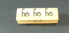 Recollections ho ho ho Christmas Rubber Stamp Scrapbooking Decorating VG