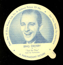 1952 DIXIE CUP NELSON'S ICE CREAM BING CROSBY MOVIE STAR NM FREE SHIP USA