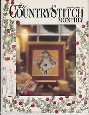 Country Stitch Monthly Nov 1988 Christmas Holiday Issue Season's Greetings