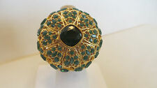 Luxe Rachel Zoe Bold Floral Pave' Lace Ring GREEN   SIZE 6  J154776