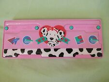 Vintage Spottie Dottie Pencil Case~Sharpener~Pen Pop-Open Sanrio 1990, 1991 Pink