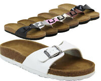 LADIES MOJO FOOTBED LEATHER INSOLE SUMMER BEACH CASUAL SANDALS SHOES SIZES 3-9
