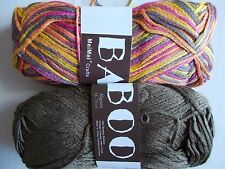 MeiMei Bamboo 100% bamboo yarn, mixed 2 skeins, brown/variegated (181 yds ea)